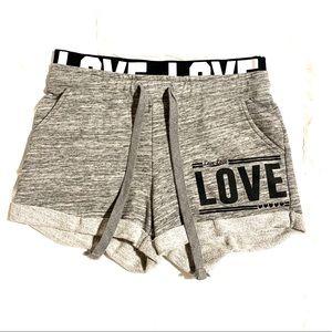 "Reflex Comfort ""Love"" Gray Lounge Shorts!"